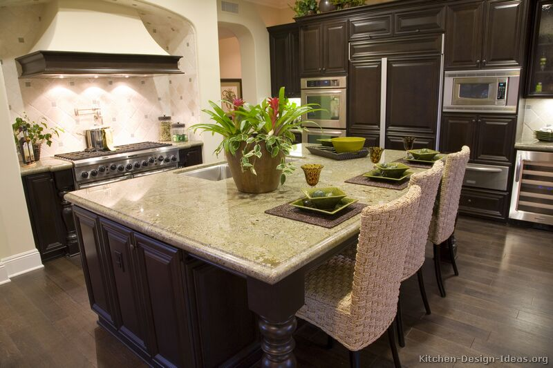 gourmet kitchen design - Kitchen Designs Dark Cabinets