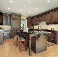 Traditional Dark Wood (Walnut) Kitchen