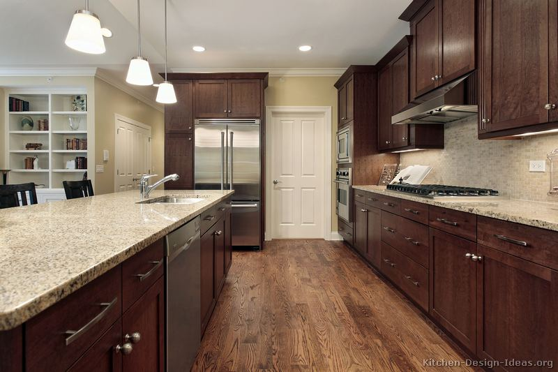 Brilliant Walnut Kitchen Cabinets with Dark Floors 800 x 533 · 69 kB · jpeg