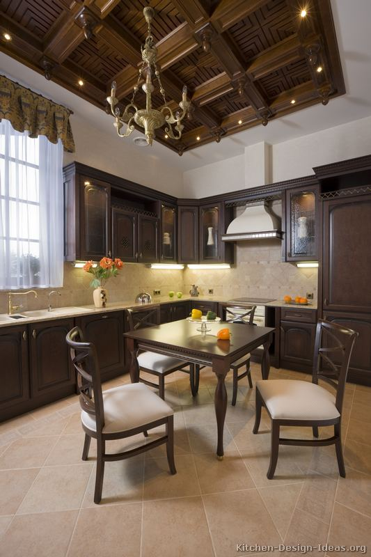 Pictures Of Kitchens Traditional Dark Wood Kitchens Walnut Color Page 3