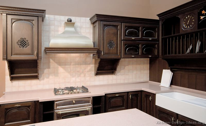 Kitchen cabinets dark walnut - Kitchen colors dark cabinets ...