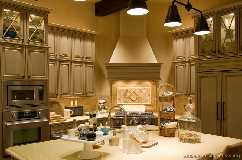 of Kitchens  Traditional  Gray Kitchen Cabinets (Kitchen #1