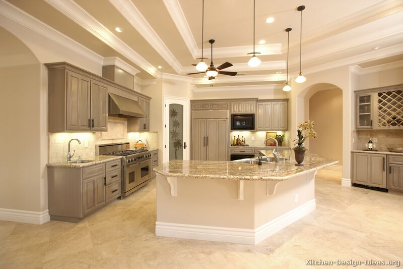 Pictures of kitchens traditional gray kitchen cabinets for What is traditional kitchen