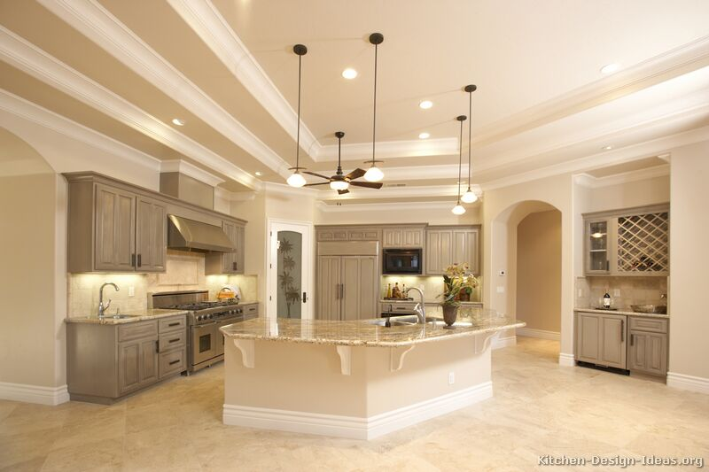 Pictures Of Kitchens Traditional Gray Kitchen Cabinets Kitchen - Grey kitchen cabinets ideas