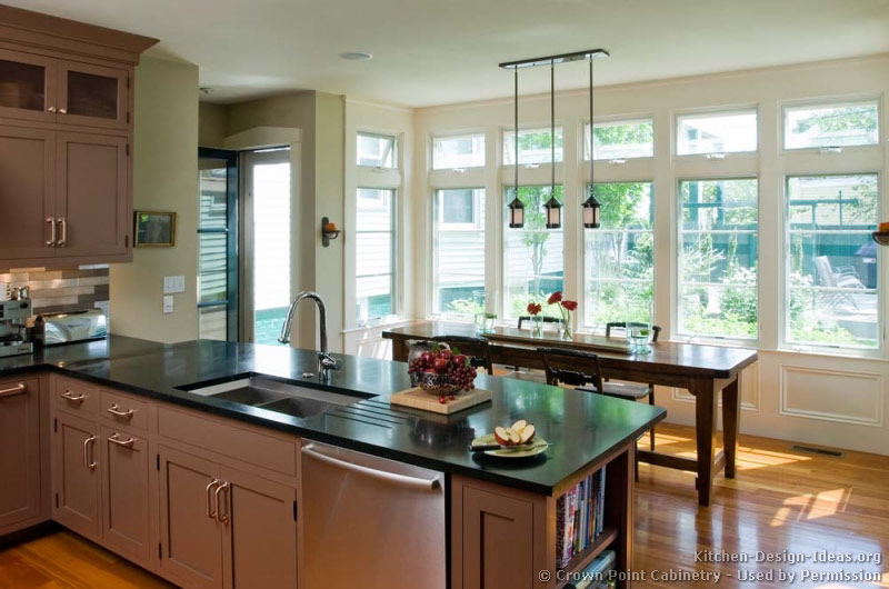 Transitional kitchen design cabinets photos style ideas for Peninsula kitchen designs