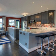 Gray Kitchen by Roderick Shade - Modern White Kitchen - Blacklines of Design