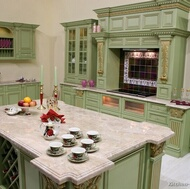 Traditional Green Kitchens