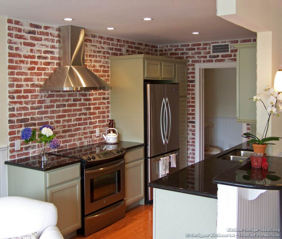 Traditional Kitchen With Brick Walls | DIY Home Staging Tips