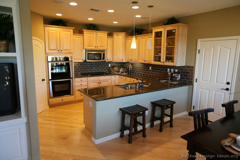 Light kitchen floors with dark cabinets images Kitchen design with light oak cabinets