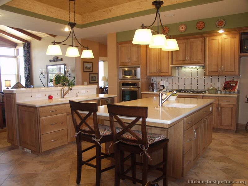 Pictures of kitchens smiuchin Kitchen design with light oak cabinets