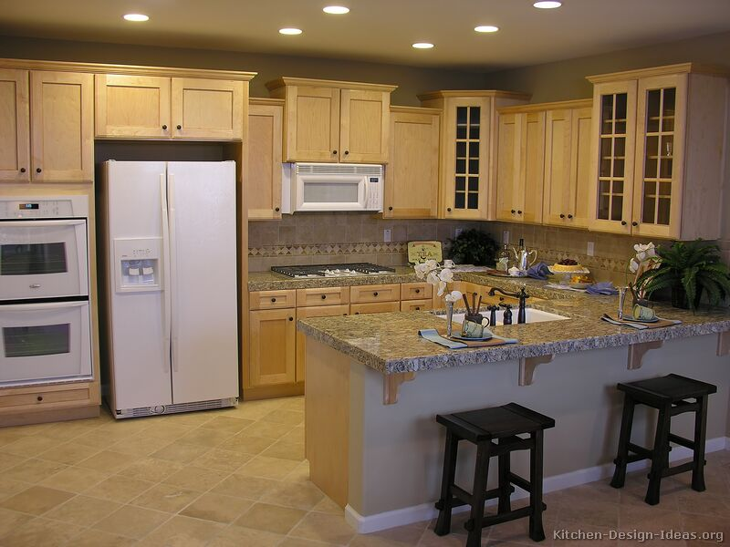 of Kitchens  Traditional  Light Wood Kitchen Cabinets (Kitchen #12