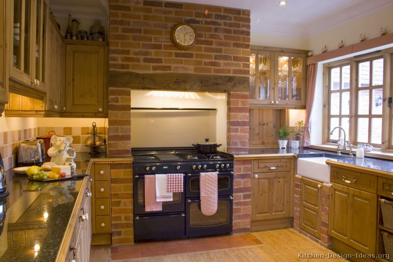Country kitchen design pictures and decorating ideas for Kitchen bricks design
