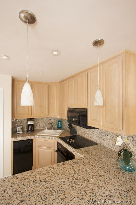 Pictures of kitchens traditional light wood kitchen for Anchorage kitchen cabinets
