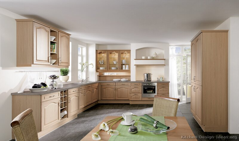 Pictures Of Kitchens Traditional Light Wood Kitchen Cabinets - Light gray wood kitchen cabinets