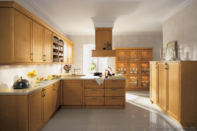 Pictures of kitchens traditional light wood kitchen for Chinese kitchen design ideas