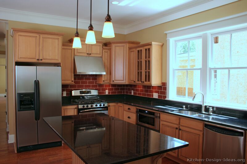 of Kitchens  Traditional  Light Wood Kitchen Cabinets (Page 2
