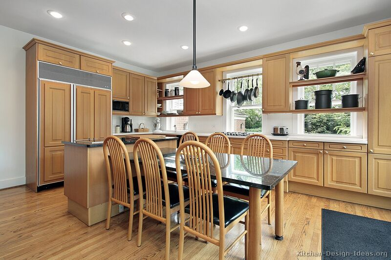 Pictures of kitchens traditional light wood kitchen - Kitchen design wood cabinets ...