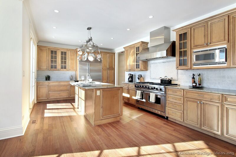 Pictures of Kitchens  Traditional  Light Wood Kitchen Cabinets (Page