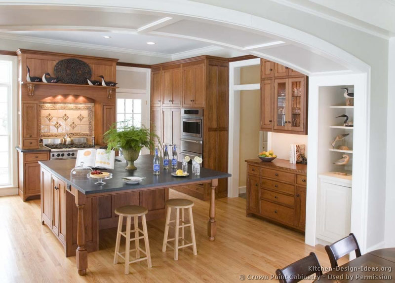 Pictures of Kitchens  Traditional  Light Wood Kitchen Cabinets Page