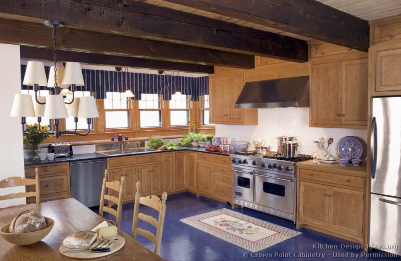 Kitchen floor ideas with oak cabinets best home for Country kitchen floor ideas