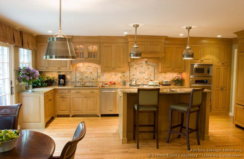 Kitchen Design Ideas Light Cabinets pictures of kitchens - traditional - light wood kitchen cabinets
