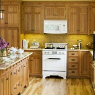 kitchen appliance colors - Kitchen Design Ideas With Oak Cabinets