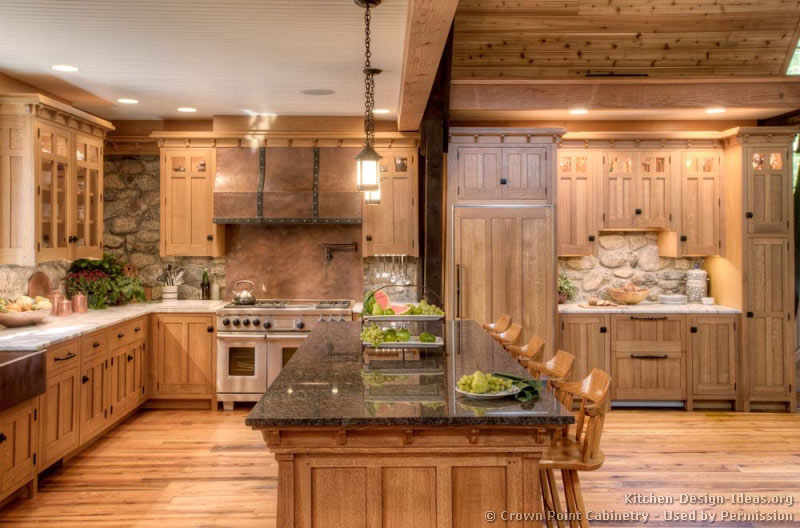 Pictures of kitchens traditional light wood kitchen for White mission style kitchen cabinets