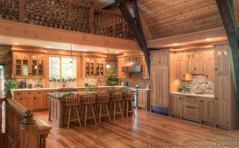 13, Log Home Kitchen
