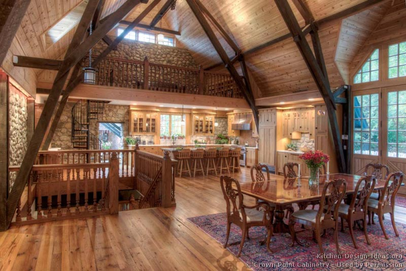 14, Log Home Kitchen
