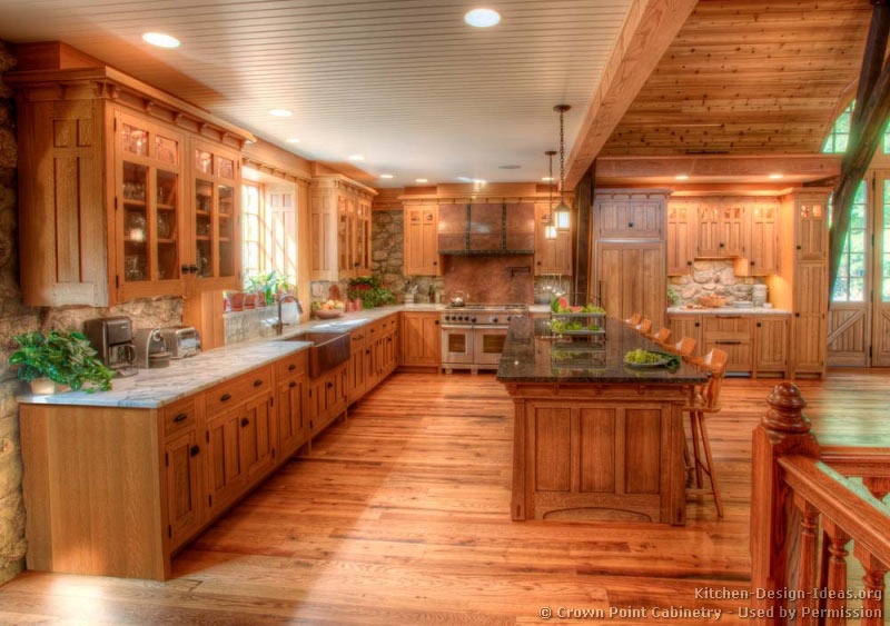 Pictures of kitchens traditional light wood kitchen for Wood floors in kitchen