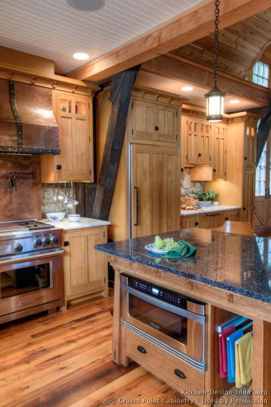 17, Log Home Kitchen