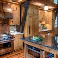 Timber Frame Craftsman Kitchen