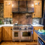 Copper and Stone Backsplash