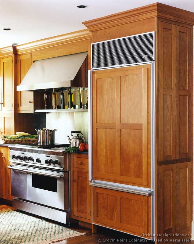 Wooden Refrigerator Cabinets ~ Shaker kitchen cabinets door styles designs and pictures