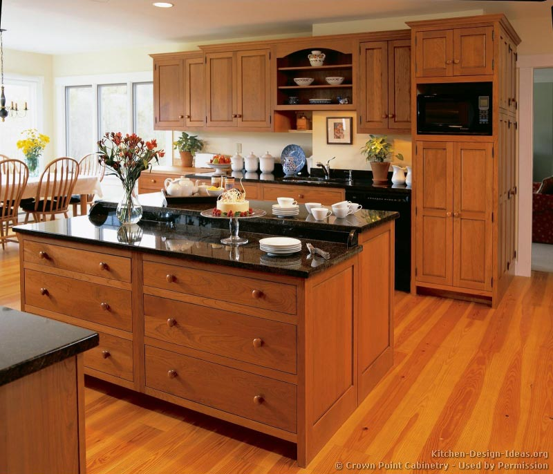 Kitchens With Cherry Cabinets And Wood Floors