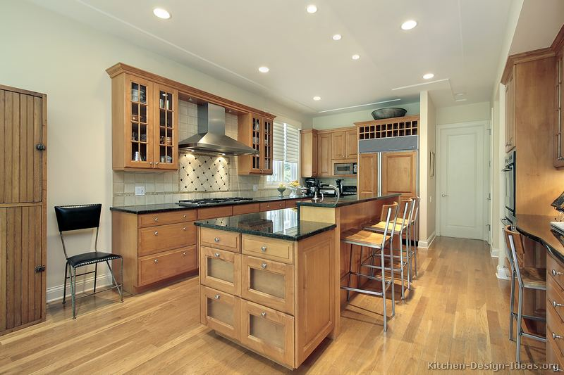 Pictures Of Kitchens Traditional Light Wood Kitchen Cabinets Page 6