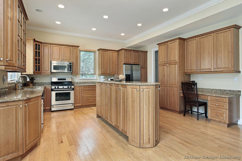 Pictures of kitchens traditional light wood kitchen cabinets kitchen 152 Kitchen design with light oak cabinets