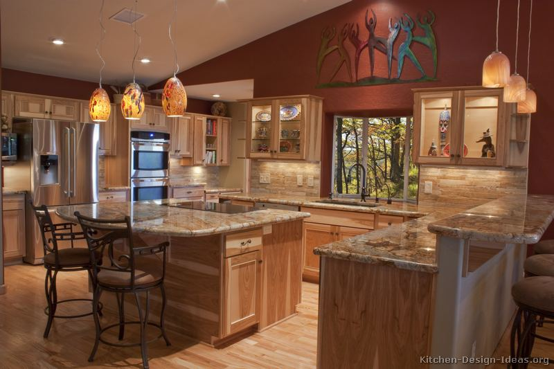 Pictures of kitchens traditional light wood kitchen for Kitchen remodel ideas