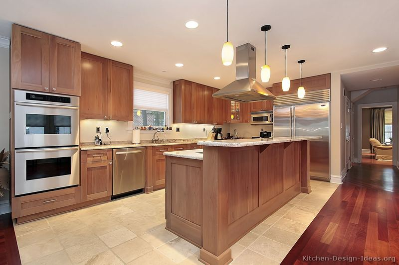 Transitional kitchen design cabinets photos style ideas for Kitchen floor remodel ideas