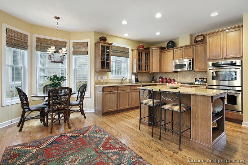 traditional light wood kitchen - Kitchen Table Light