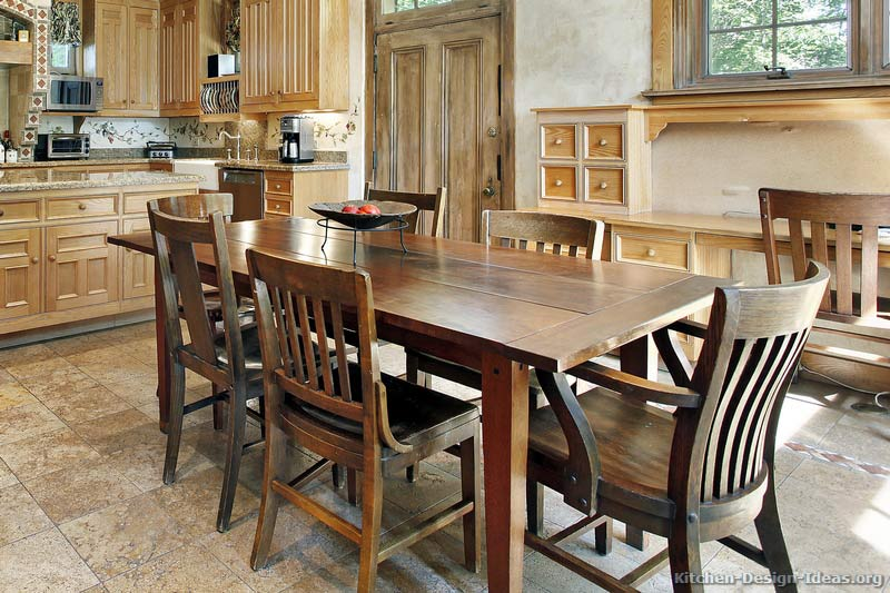 Rustic kitchen table kitchen design ideas for Kitchen table designs plans