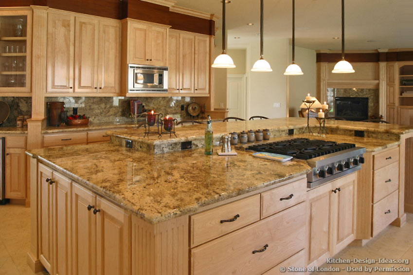 Granite Kitchen Countertops and Cabinets