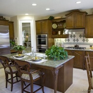 Traditional Medium Wood (Brown) Kitchens