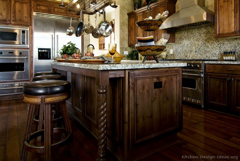 Pictures of Kitchens  Traditional  Medium Wood Cabinets, Brown