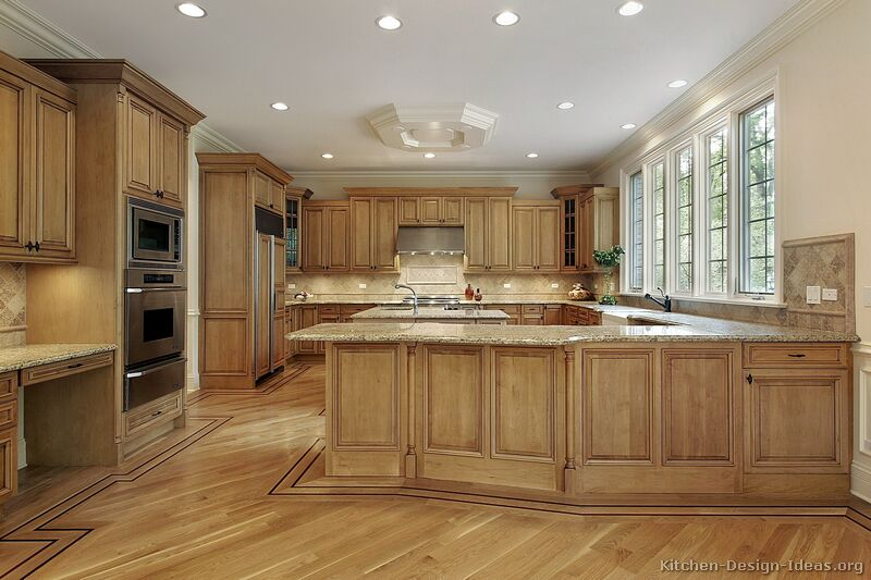 of Kitchens  Traditional  Medium Wood Cabinets, Brown (Kitchen #11