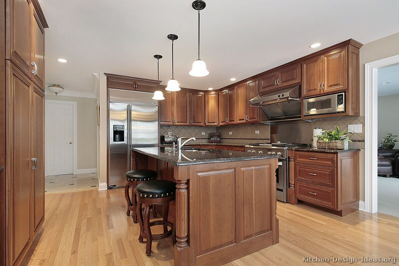 Pictures of Kitchens - Traditional - Medium Wood Cabinets, Brown