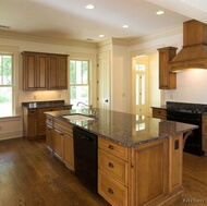 Traditional Medium Wood-Brown Kitchen