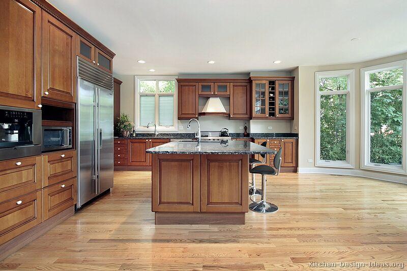 Kitchen Ideas Medium Brown Cabinets