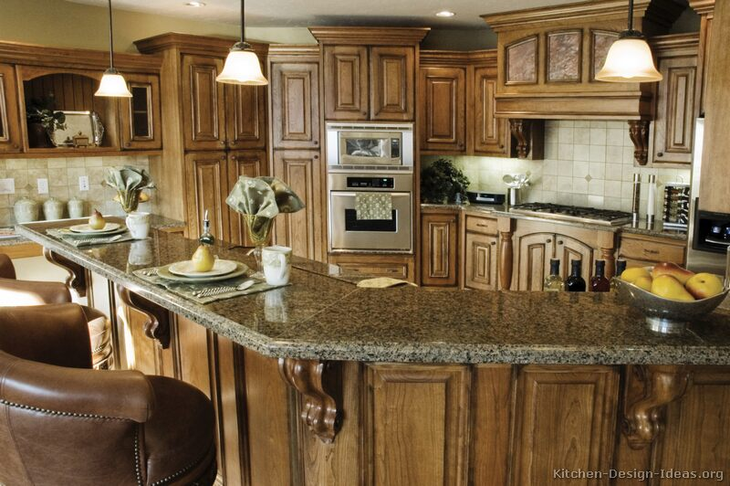 Tuscan kitchen design style decor ideas for Country kitchen designs layouts