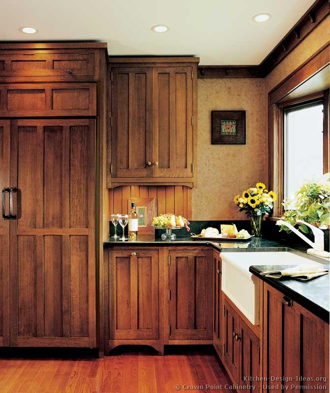 Pictures Of Kitchens Traditional Medium Wood Cabinets Brown Kitchen 55